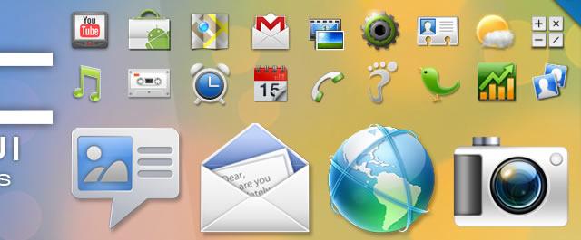 HTC Sense UI 2.1 Icons