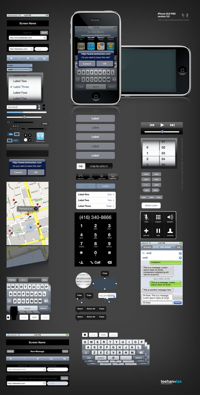 iPhone GUI PSD Design Template