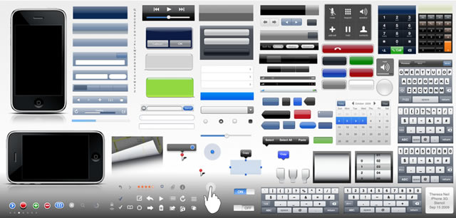 Complete iPhone & iPad GUI Kits