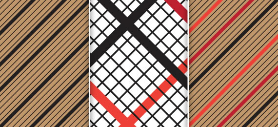 Striped Checked - 3 Patterns (.eps & .jpg)