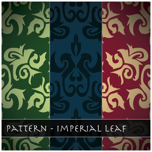 Imperial Leaf Pattern - 3 Patterns (.ai & .png)