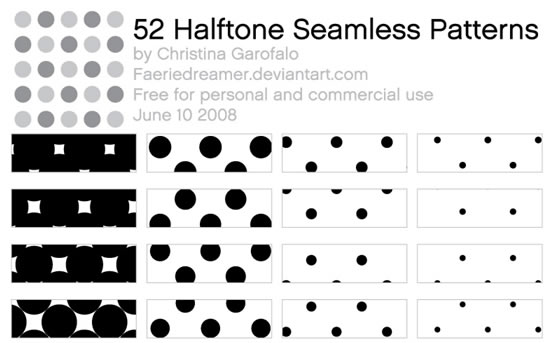 Halftone - 52 Patterns (.ai)
