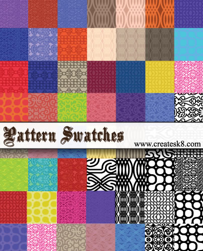 Pattern Swatches - 54 Patterns (.ai & .jpg)