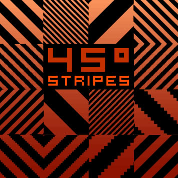 Degrees Stripes Pattern - 45 Patterns (.ai)