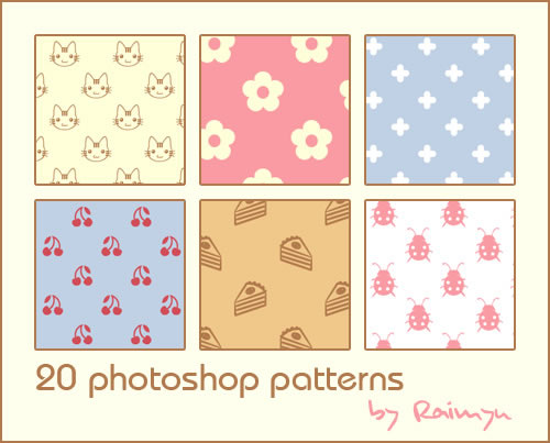 Photoshop Patterns - 20 Patterns (.pat & .jpg)