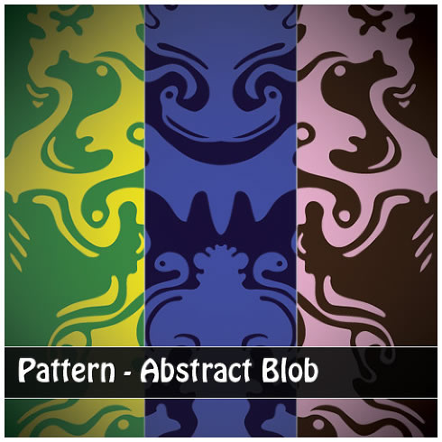 Abstract Blobs - 3 Patterns (.ai & .png)
