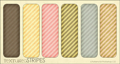 Textured Stripes - 6 Patterns (.pat)
