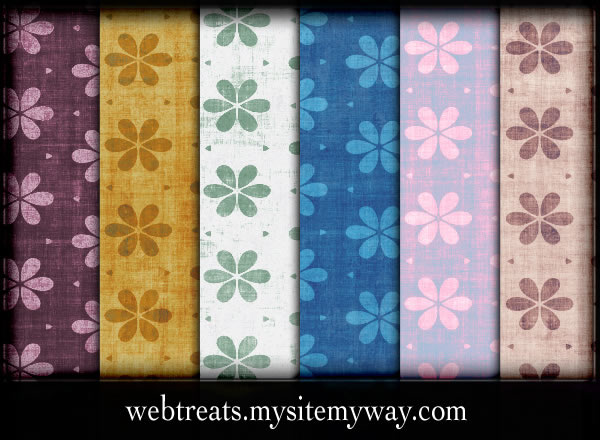 Grungy Floral Patterns - 10 Patterns (.pat & .jpg)