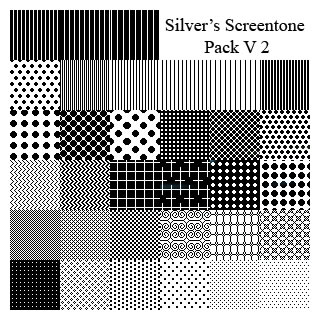 Silver's Screentone Pack V2 - 31 Patterns (.pat)