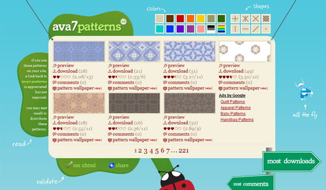 ava7 Patterns - 1546 Free Seamless Background Patterns