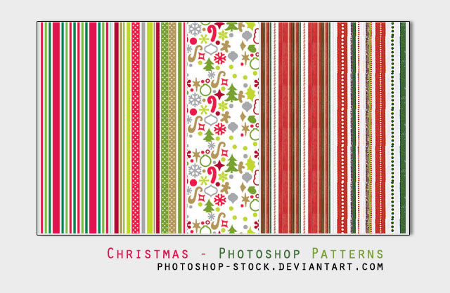 Christmas Day Photoshop Patterns