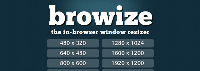 Browize - Online Browser Resizer