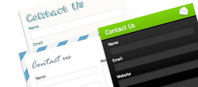 CSS Globe - 5 Web Form Styles