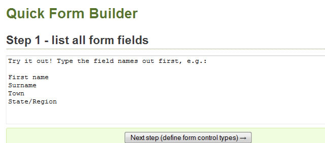 Accessible Form Builder
