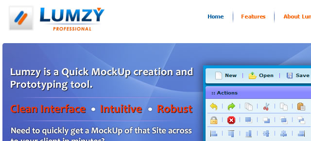 Lumzy - Quick Mockup Creation and Prototyping Tool