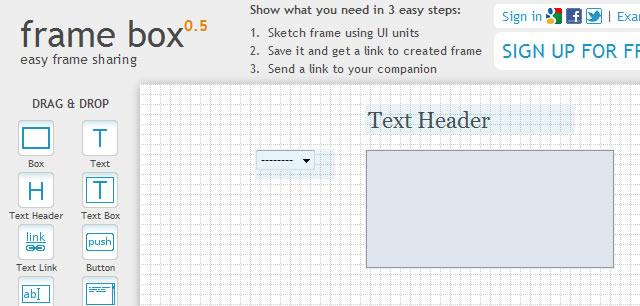 Frame Box - Lightweight Online Tool for Creating Mockups