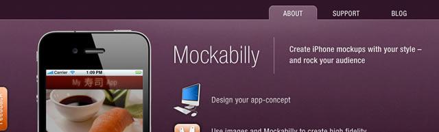 Mockabilly - iPhone app mockup