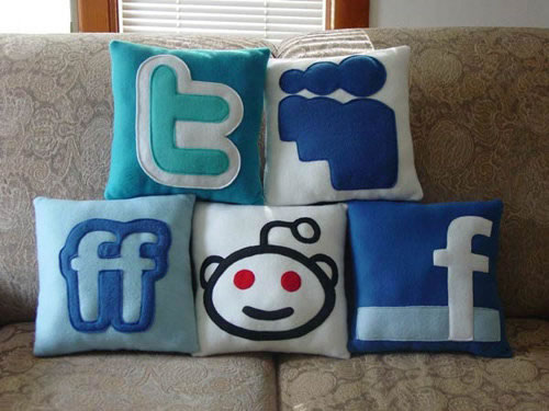 social networks pillows