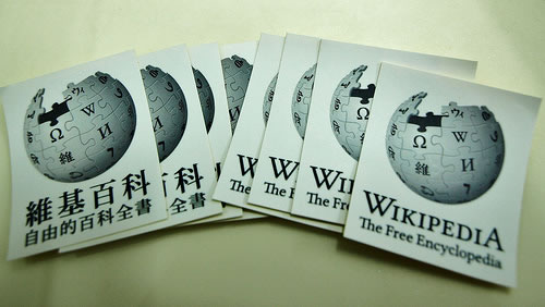 wikipedia stickers