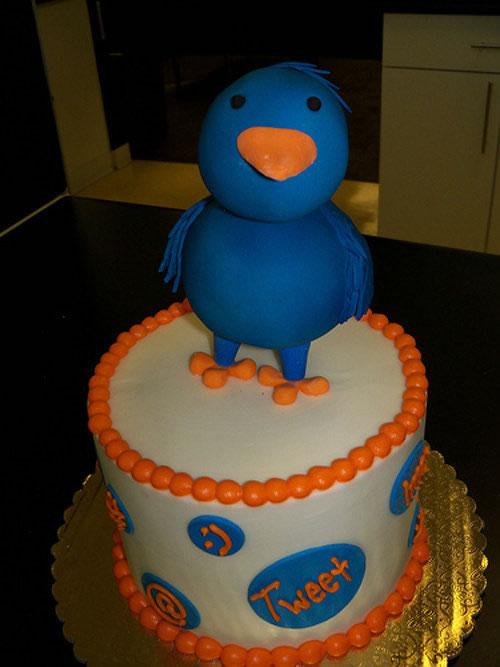 twitter bird cake