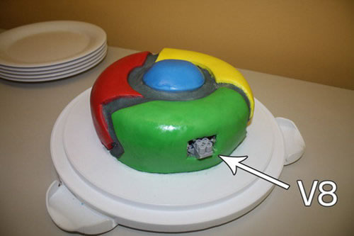 google chrome cake