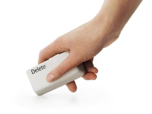 delete rubber