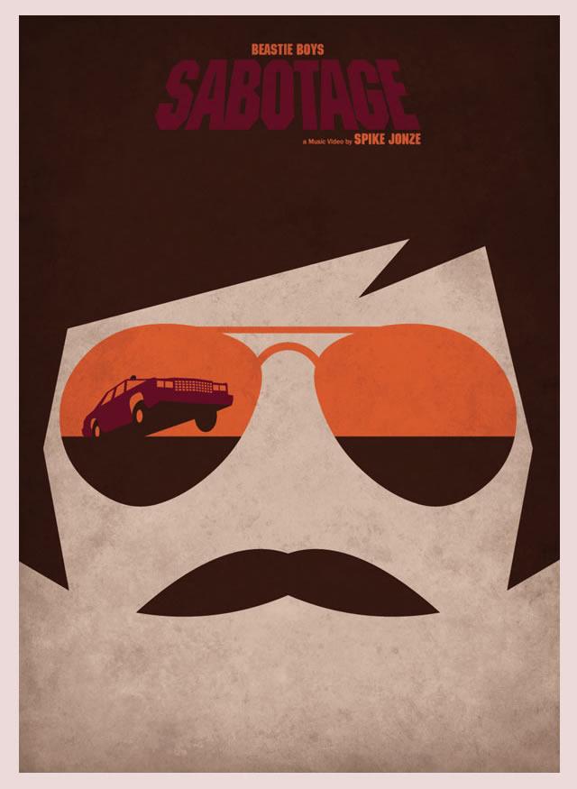Beastie Boys Sabotage Minimalist Poster