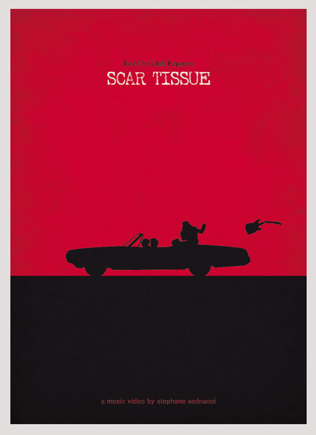 Red Hot Chili Peppers Scar Tissue Minimalist Poster