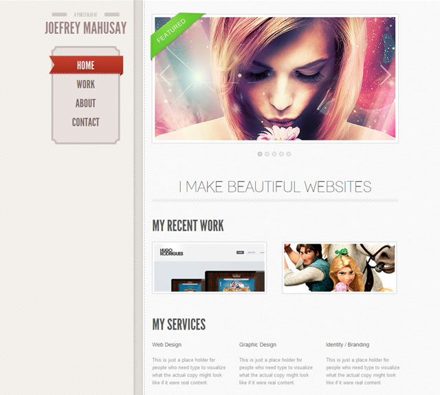 Free Single-Page Scrolling HTML5 Portfolio Template + PSDs