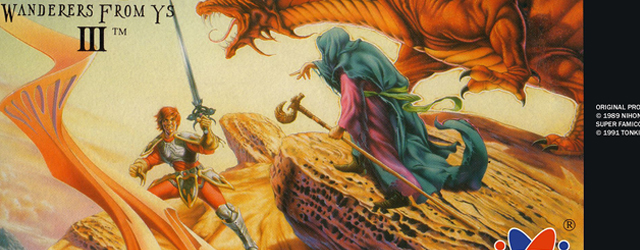 Ys III: Wanderers from Ys SNES artwork