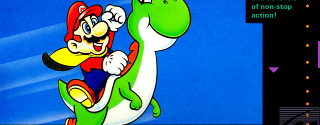 Super Mario World Super Nintendo box artwork
