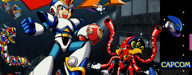 Mega Man X SNES game art