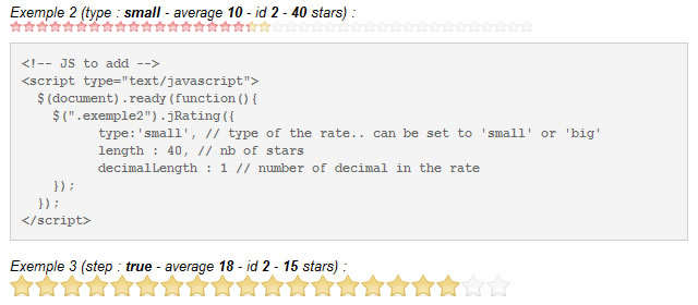 jRating - Ajaxed Star Rating System