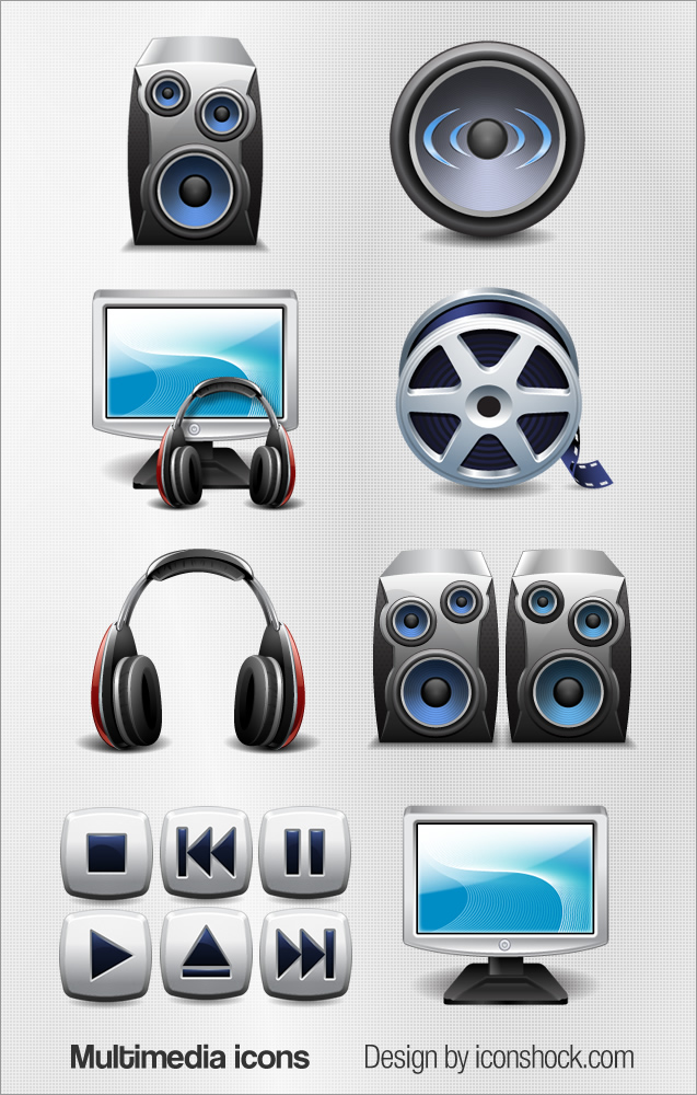 Download The Multimedia Icon Set