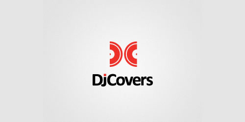 red color logo design inspiration brand DJ Covers   l