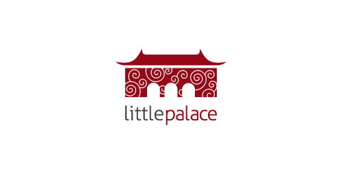 red color logo design inspiration brand Little Palace  l