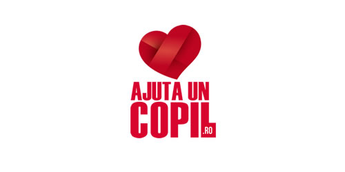 red color logo design inspiration brand ajua un copil  l