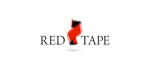 red color logo design inspiration brand Red Tape  l