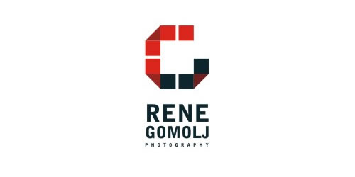 red color logo design inspiration brand Rene Gomolj  l