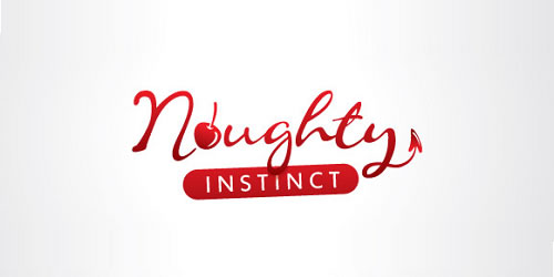 red color logo design inspiration brand Naughty Logo Design