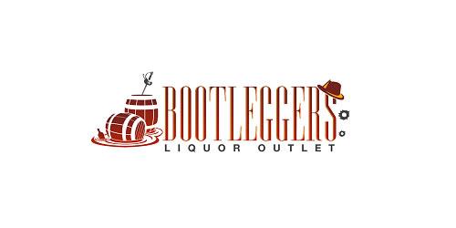 red color logo design inspiration brand Boot leggers logo
