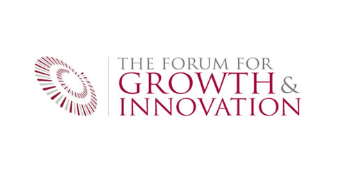 red color logo design inspiration brand Harvard Forum for Growth and Innovation