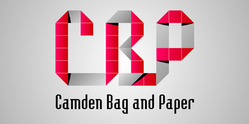 red color logo design inspiration brand Camden Baq and Paper l