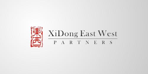 red color logo design inspiration brand East West Partners l