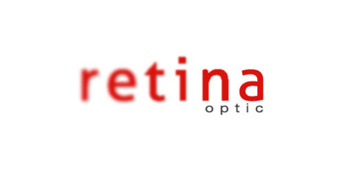red color logo design inspiration brand retina optic  l