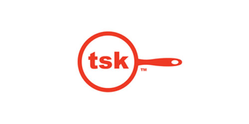 red color logo design inspiration brand tsk