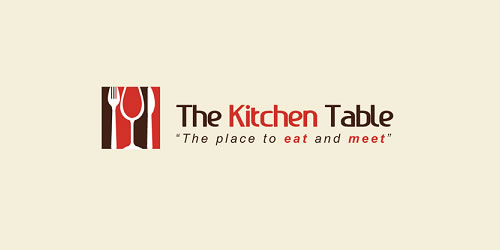 red color logo design inspiration brand Kitchen Table