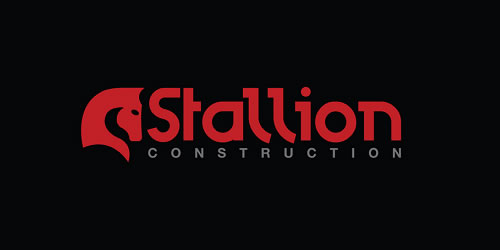 red color logo design inspiration brand Construction Logo
