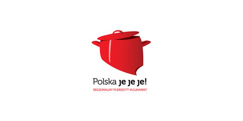 red color logo design inspiration brand Polska jejeje!  l