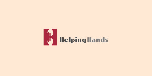 red color logo design inspiration brand Helping Hands  l
